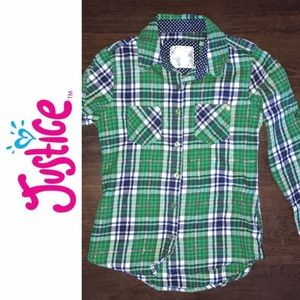 Justice flannel shirt - 🆕 listing